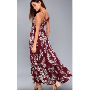 Free People Floral Maxi Dress Size XS (0-2)